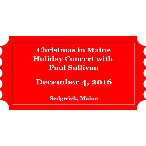 Christmas in Maine holiday concert with Paul Sullivan on December 4