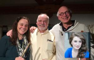 Flutist Liz Downing, pianist Paul Sullivan and cellist Myles Jordan and special guest artist singer Rosie Upton