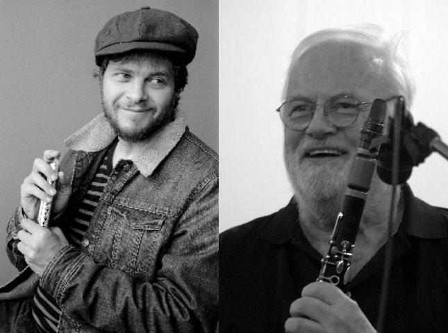 Clarinetist Brad Terry and virtuoso harmonica player Will Galison